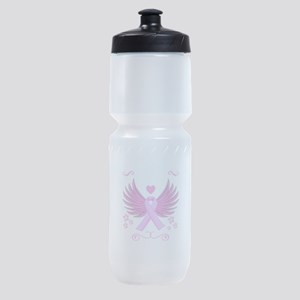 Breast Cancer Ribbon With Wings Sports Bottle
