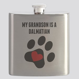My Grandson Is A Dalmatian Flask