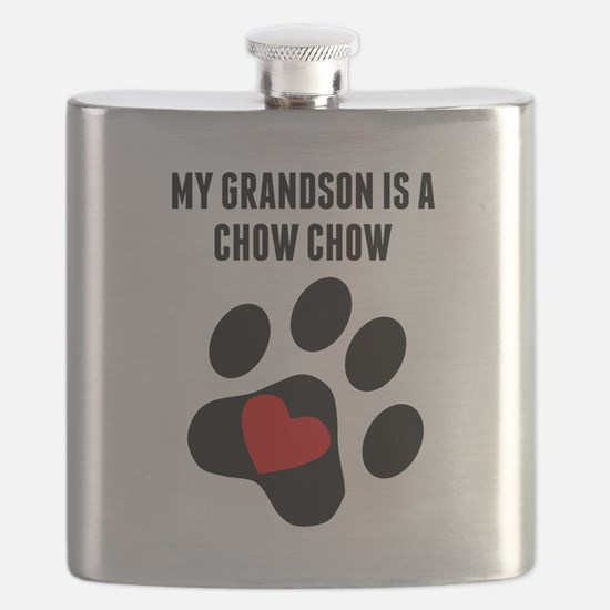 My Grandson Is A Chow Chow Flask
