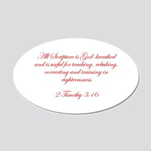 All Scripture is God breathed and is useful for te