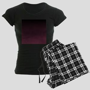 trendy burgundy ombre Women's Dark Pajamas