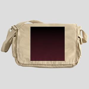 trendy burgundy ombre Messenger Bag