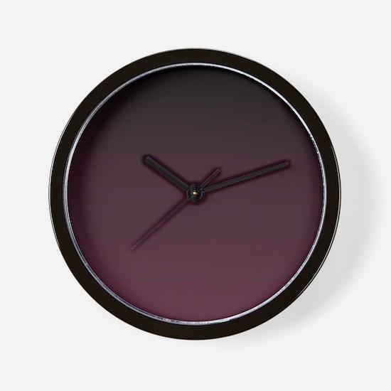 trendy burgundy ombre Wall Clock