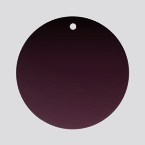 trendy burgundy ombre Ornament (Round)