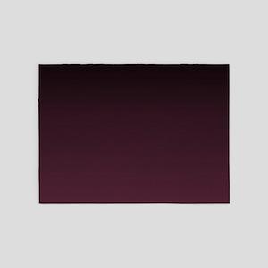trendy burgundy ombre 5'x7'Area Rug