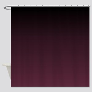 Trendy Burgundy Ombre Shower Curtain