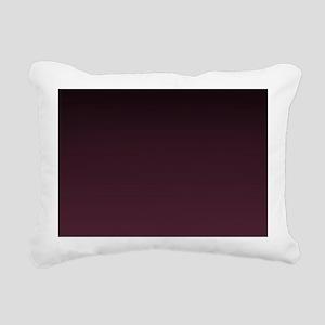 trendy burgundy ombre Rectangular Canvas Pillow