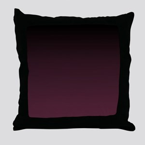 trendy burgundy ombre Throw Pillow