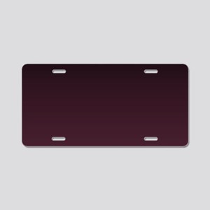 gothic burgundy ombre Aluminum License Plate