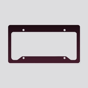 gothic burgundy ombre License Plate Holder