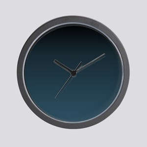 dark teal blue ombre Wall Clock