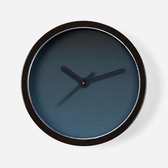 dark teal blue ombre Wall Clock