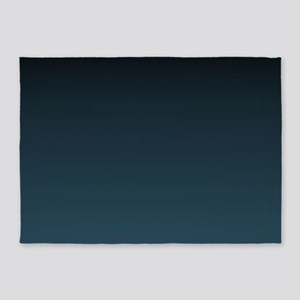 dark teal blue ombre 5'x7'Area Rug