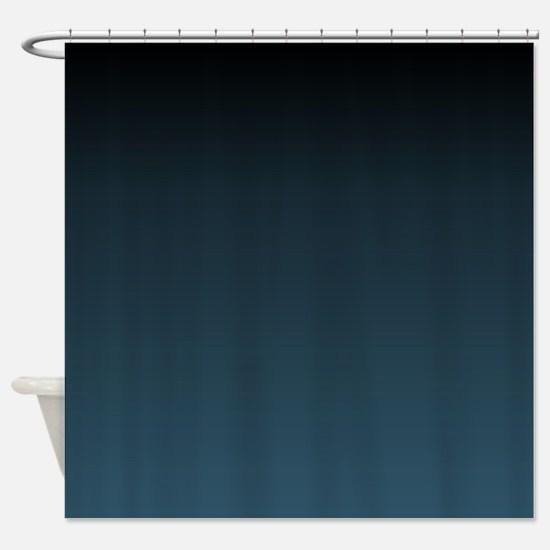 dark teal blue ombre Shower Curtain