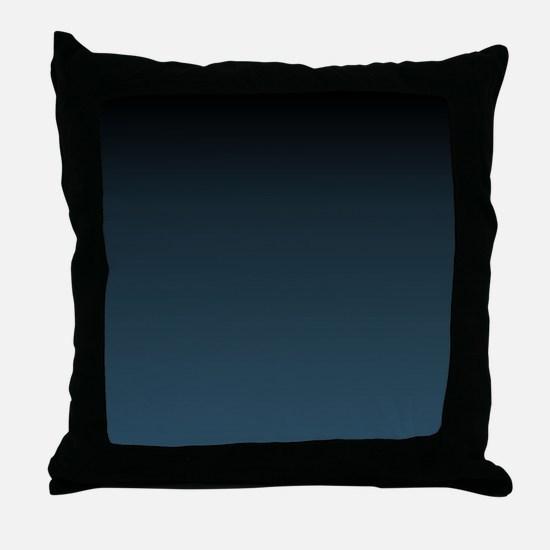 dark teal blue ombre Throw Pillow