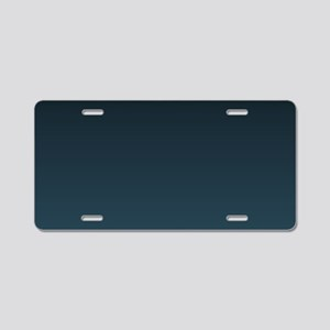 dark teal blue ombre Aluminum License Plate