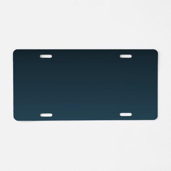 dark teal blue ombre Aluminum License Plate