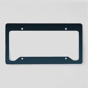 dark teal blue ombre License Plate Holder