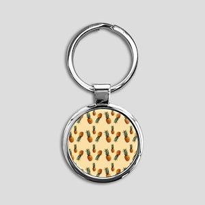 cute pineapple pattern Round Keychain