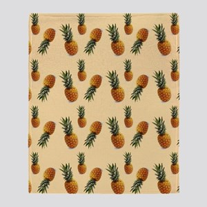cute pineapple pattern Throw Blanket