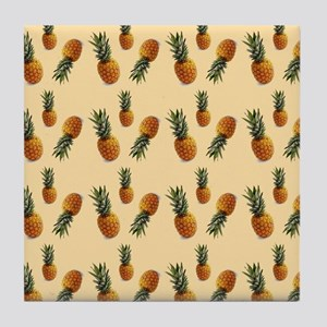 cute pineapple pattern Tile Coaster