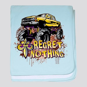Regret Nothing Mud Truck baby blanket