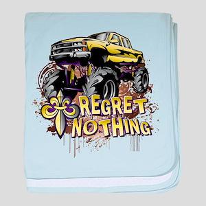 Regret Nothing Mud Truck baby blanket