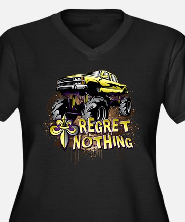 Regret Nothing Mud Truck Plus Size T-Shirt