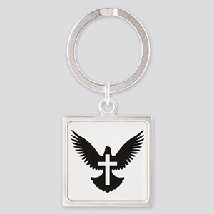 Dove with cross Keychains