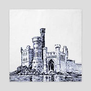 Castle Blue Queen Duvet