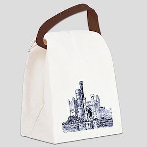 Castle Blue Canvas Lunch Bag