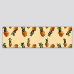 cute pineapple pattern Bumper Sticker