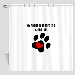 My Granddaughter Is A Shiba Inu Shower Curtain