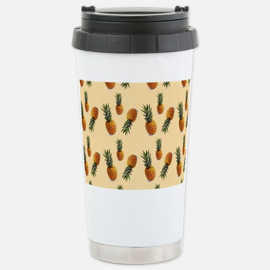 cute pineapple pattern Stainless Steel Travel Mug