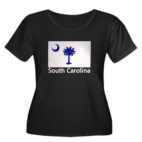 South Carolina Flag Women's Plus Size Scoop Neck D