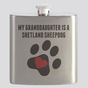 My Granddaughter Is A Shetland Sheepdog Flask