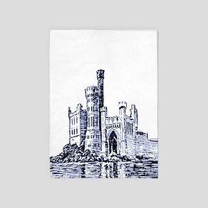 Castle Blue 5'x7'area Rug