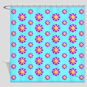 Tribal Flowers by Xennifer Shower Curtain