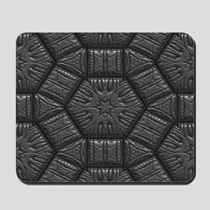 Intriguing Shimmering Star Pattern,silve Mousepad
