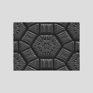 Intriguing Shimmering Star Pattern, 5'x7'Area Rug