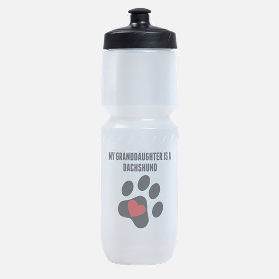 My Granddaughter Is A Dachshund Sports Bottle