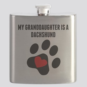 My Granddaughter Is A Dachshund Flask