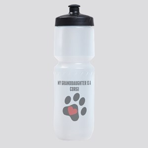 My Granddaughter Is A Corgi Sports Bottle