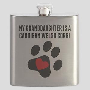 My Granddaughter Is A Cardigan Welsh Corgi Flask