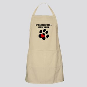 My Granddaughter Is A Boston Terrier Apron