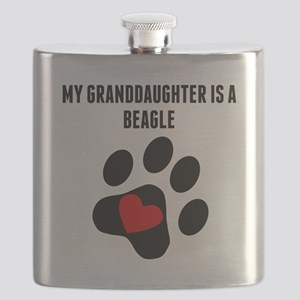 My Granddaughter Is A Beagle Flask