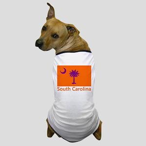 Clemson Flag Dog T-Shirt