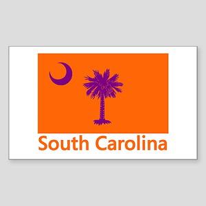 Clemson Flag Rectangle Sticker