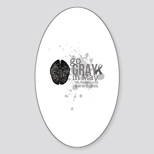 Go Grey in May Sticker (Oval)