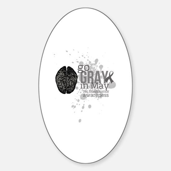 Go Grey in May Sticker (Oval)